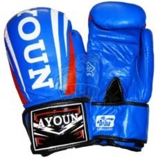 Перчатки боксерские Ayoun кожа (синий)