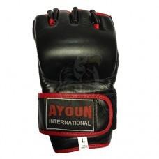 Перчатки для смешанных единоборств Ayoun кожа (черный)