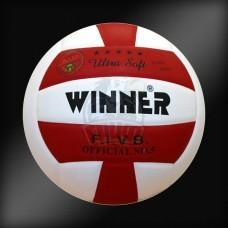 Мяч волейбольный матчевый Winner VC5 Colored (красный/белый)