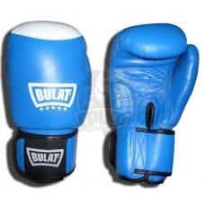 Перчатки боксерские Bulat кожа (синие)