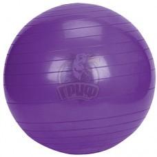 Мяч гимнастический (фитбол) 65 см с системой антивзрыв (фиолетовый)