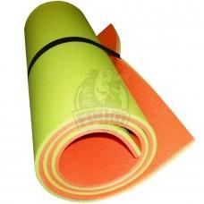 Коврик двухслойный Экофлекс 15 мм (салатовый/оранжевый)