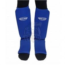 Защита голени и стопы для единоборств Vimpex Sport (синий)