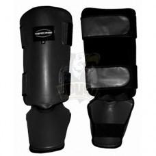 Защита голени и стопы для тайского бокса Vimpex Sport ПУ