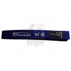 Пояс каратэ Arawaza Blue (синий)