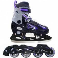Ролики раздвижные cо сменными рамами Vimpex Sport (фиолетовый)