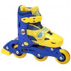 Роликовые коньки раздвижные Fora (синий/желтый)