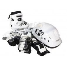 Роликовые коньки раздвижные с комплектом защиты Atemi Panda