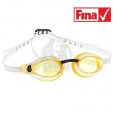 Очки для плавания стартовые Mad Wave X-Look (желтый)