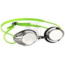 Очки для плавания стартовые Mad Wave Streamline Mirror (зеленый)