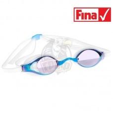 Очки для плавания стартовые Mad Wave Record Breaker Rainbow (голубой)