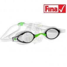 Очки для плавания стартовые Mad Wave Record Breaker (белый)