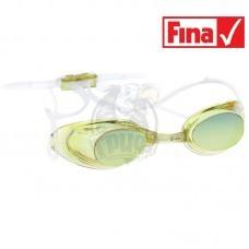 Очки для плавания стартовые Mad Wave Liquid Racing Mirror (желтый)