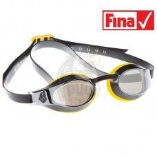 Очки для плавания стартовые Mad Wave X-Look Mirror (желтый)