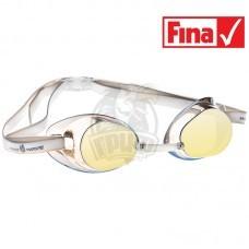 Очки для плавания стартовые Mad Wave Racer SW Mirror (желтый)