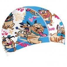 Шапочка для плавания детская Mad Wave Funky Dogs Junior