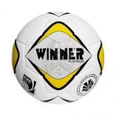 Мяч футбольный матчевый Winner Platinium FIFA №5 (белый/желтый)