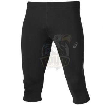 Тайтсы спортивные мужские Asics Knee 3/4 Tight (темно-серый/черный)