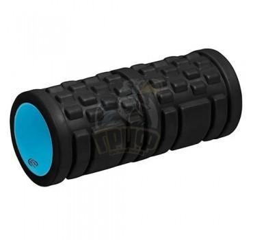 Ролик для йоги и пилатеса массажный Lite Weights 33x14 см (черный/голубой)