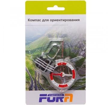 Компас для ориентирования с линейкой Fora
