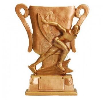 Кубок сувенирный Конькобежный спорт HX2351-B9 (бронза)