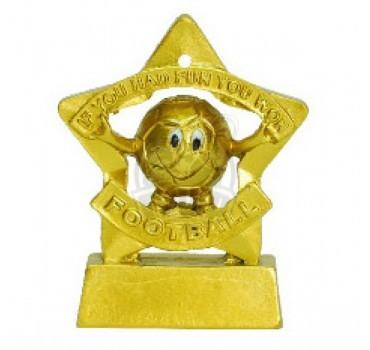 Кубок сувенирный Весёлый мяч HX3268-5 (золото)
