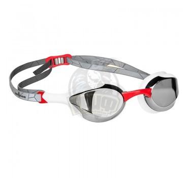 Очки для плавания тренировочные Mad Wave Alien Mirror (красный)