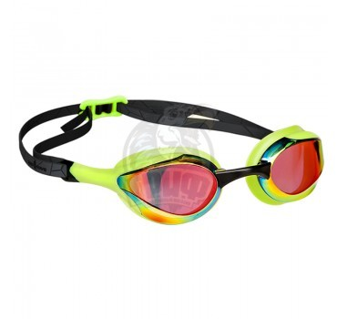 Очки для плавания тренировочные Mad Wave Alien Rainbow (зеленый)