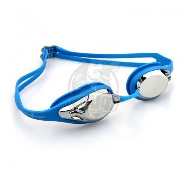 Очки для плавания тренировочные Mad Wave Alligator Mirror (синий)