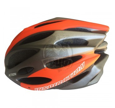 Велошлем Senhai (оранжевый/серебристый)