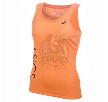 Майка спортивная женская Asics Logo Tank (оранжевый)