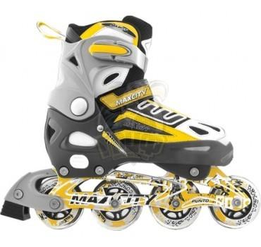 Роликовые коньки раздвижные Maxcity Punto Yellow