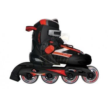 Роликовые коньки раздвижные Vimpex Sport (черно-красный)