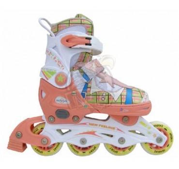 Роликовые коньки раздвижные Vimpex Sport (розовый)