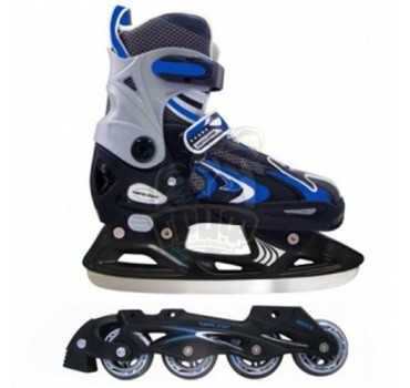 Ролики раздвижные cо сменными рамами Vimpex Sport (синий)