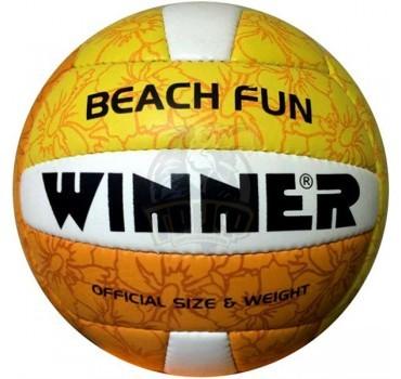 Мяч для пляжного волейбола любительский Winner Beach Fun (оранжевый/желтый)