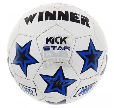 Мяч футбольный любительский Winner Kick Star №5 (синий)