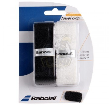 Обмотка для бадминтонной ракетки Babolat Towel Grip X2 (черный/белый)