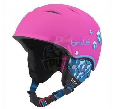 Шлем подростковый Bolle B-Free 314 Soft Neon Pink Blocks