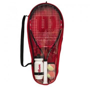 Набор для тенниcа Wilson Roger Federer 25 (ракетка, 2 оранжевых мяча, бутылка)