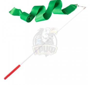 Лента гимнастическая Amely 6 м (зеленый)