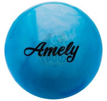 Мяч для художественной гимнастики Amely 190 мм (синий/белый)
