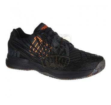 Кроссовки теннисные мужские Wilson KAOS 2.0 (черный/оранжевый)