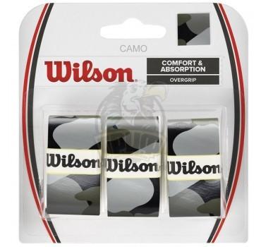 Обмотка для теннисной ракетки Wilson Camo Overgrip (черный)