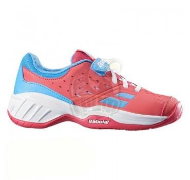 Кроссовки теннисные детские Babolat Pulsion All Court Kid (розовый/голубой)