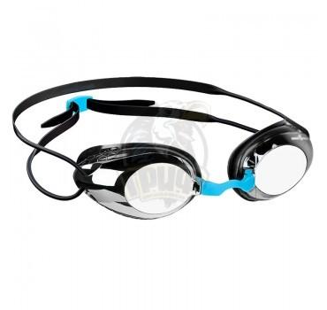Очки для плавания тренировочные Mad Wave Honey Mirror (черный)