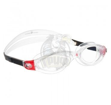 Очки для плавания тренировочные Mad Wave Clear Vision CP Lens (красный)