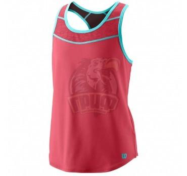 Майка спортивная для девочек Wilson Core Tank II Girl (розовый)