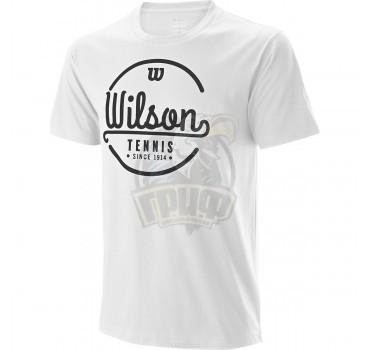 Футболка спортивная мужская Wilson Lineage Tech Tee Men (белый)