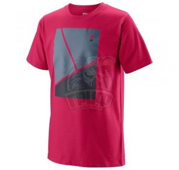Футболка спортивная для мальчиков Wilson Tramline Tech Tee Boy (красный)